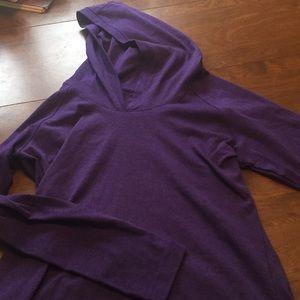 Purple pullover hoodie